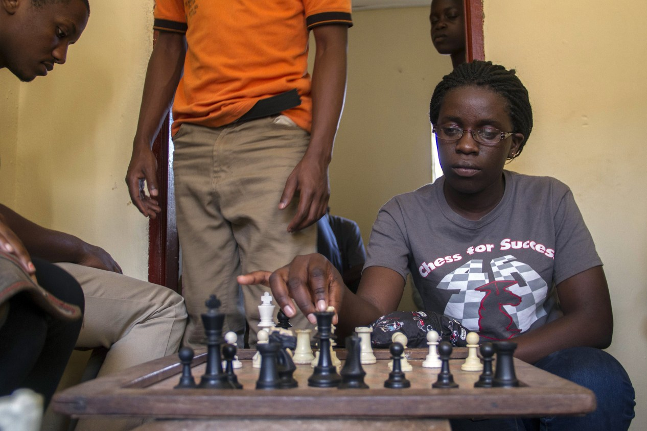 f9d41bde UGANDA-ENTERTAINMENT-FILM-CHESS