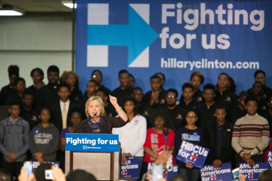 "Hillary Clinton Hosts ""African Americans For Hillary"" Rally In Atlanta"