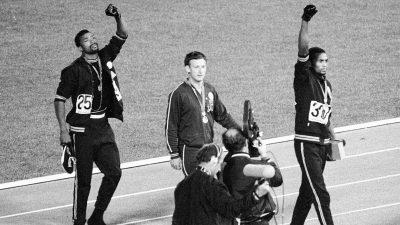 Men Receiving Olympic Medals