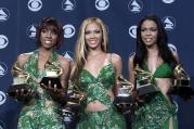 R&B group Destiny's Child pose with their Grammy A
