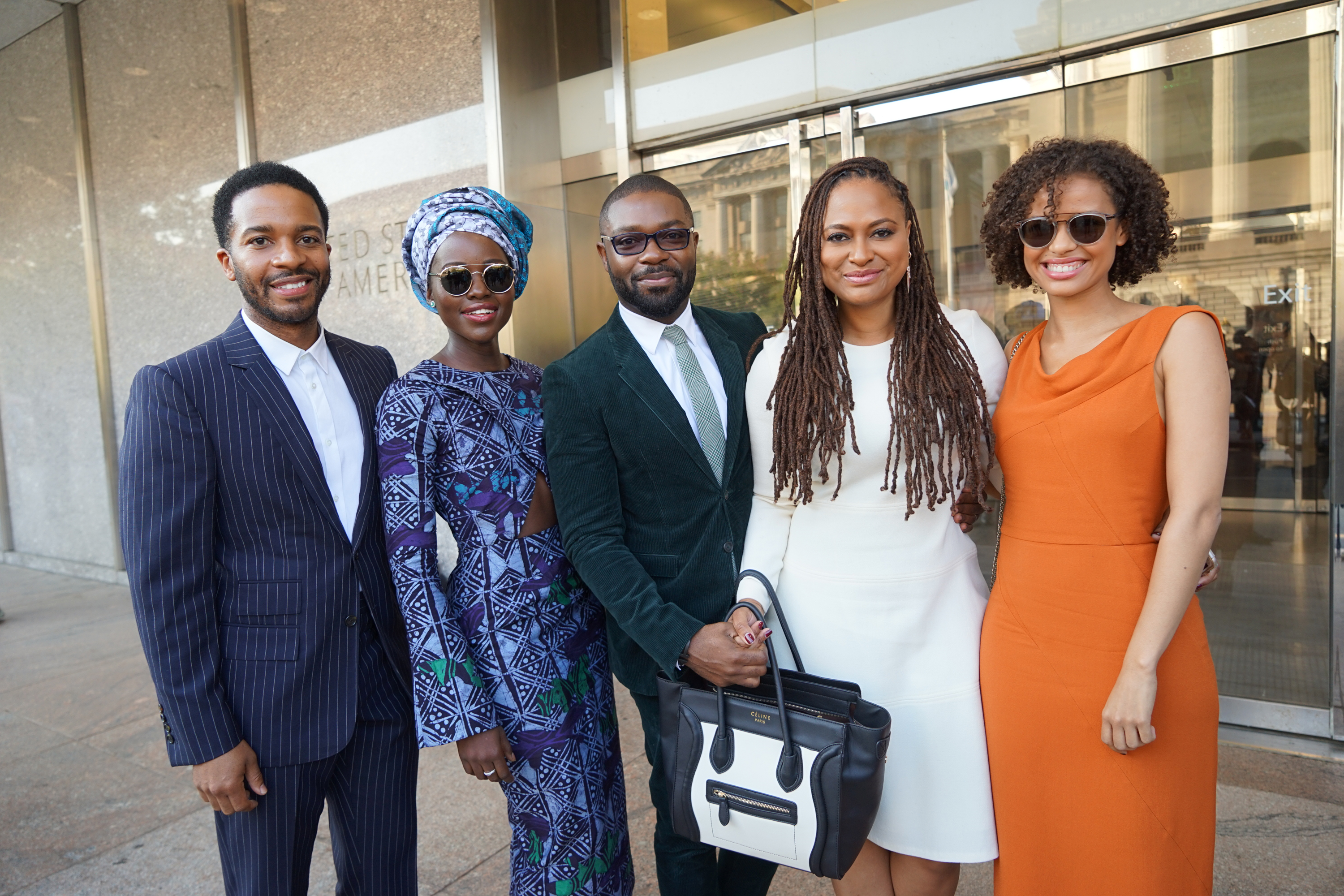 WASHINGTON, DC - SEPTEMBER 24: Andre Holland, Lupita Nyong'o, David Oyelowo, Ava Duvernay and Gugu Mbatha-Raw attends the opening of the National Museum of African American History and Culture on September 24, 2016 in Washington, DC.