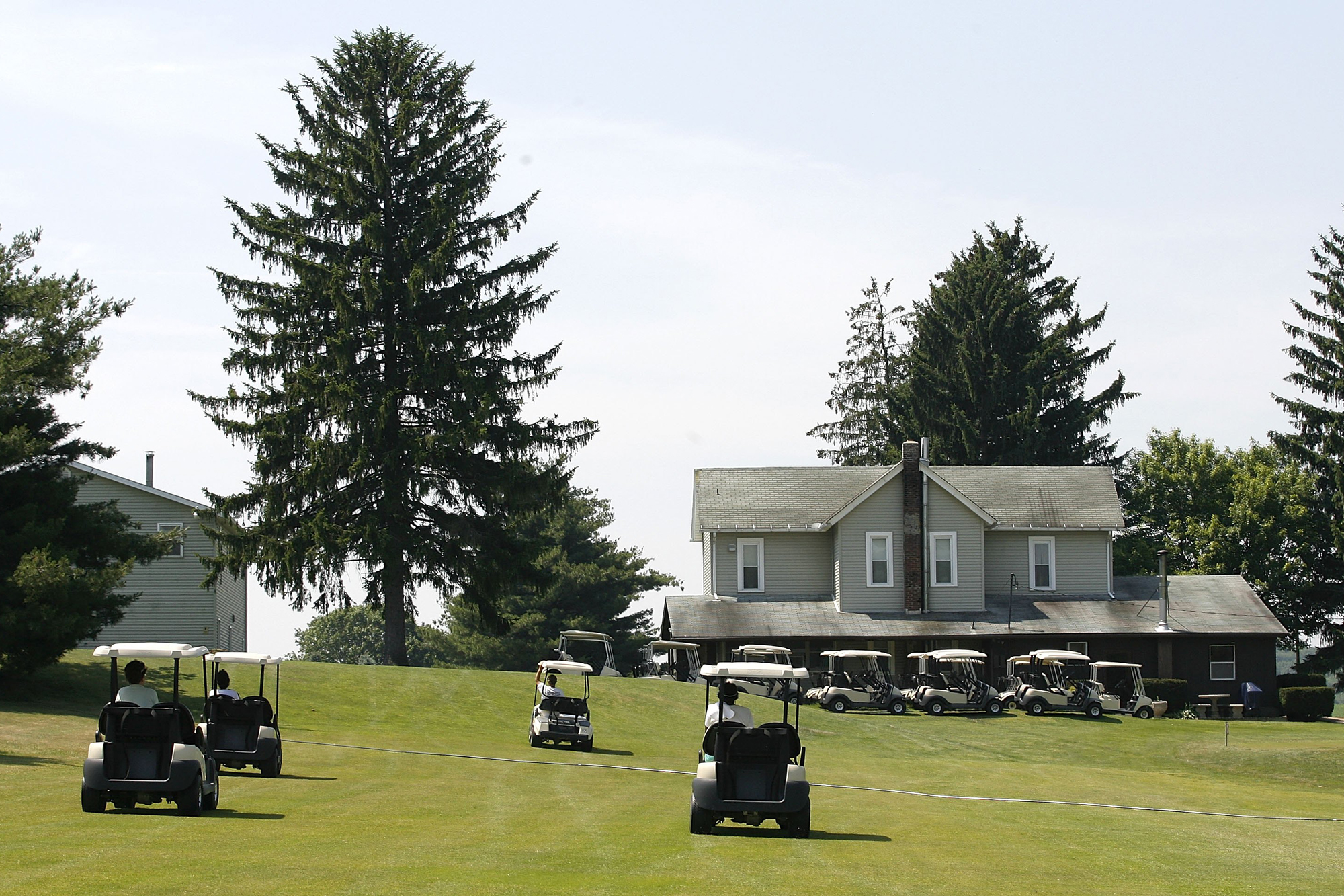 A view of the clubhouse at Clearview Golf Club on June 25, 2009 in East Canton, Ohio.