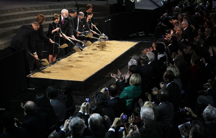 The groundbreaking ceremony for the museum took place in February 2012. (Getty Images)