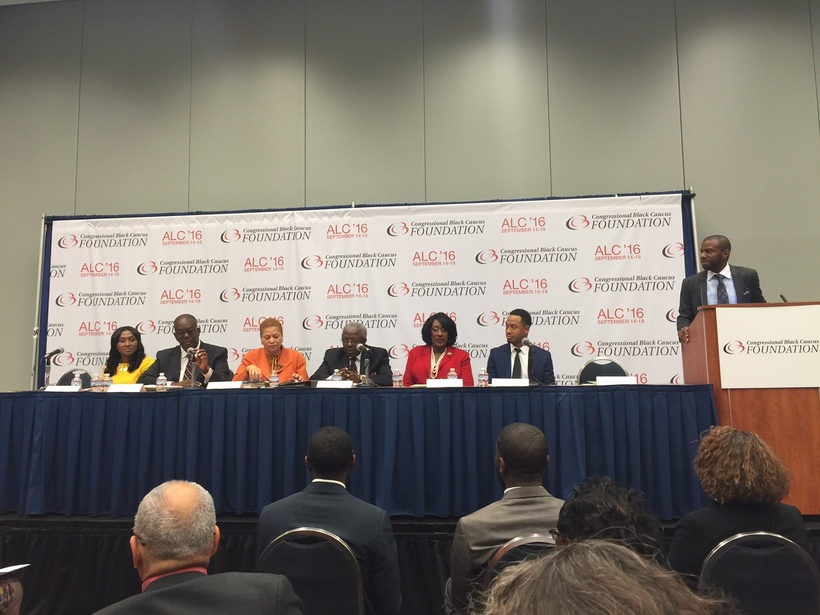 The panel of HBCU presidents at the Congressional Black Caucus Foundation Convention in Washington, D.C. September, 2016.