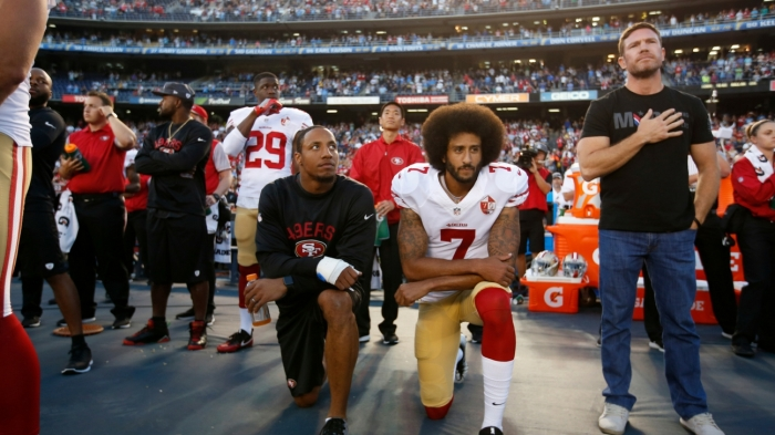 Image result for protestcolin kaepernick