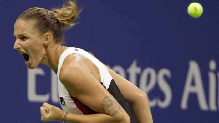 """I don't believe it,"" Karolina Pliskova said in an on-court interview. ""Actually, I do believe it. I knew I could beat anyone if I'm playing my game."""
