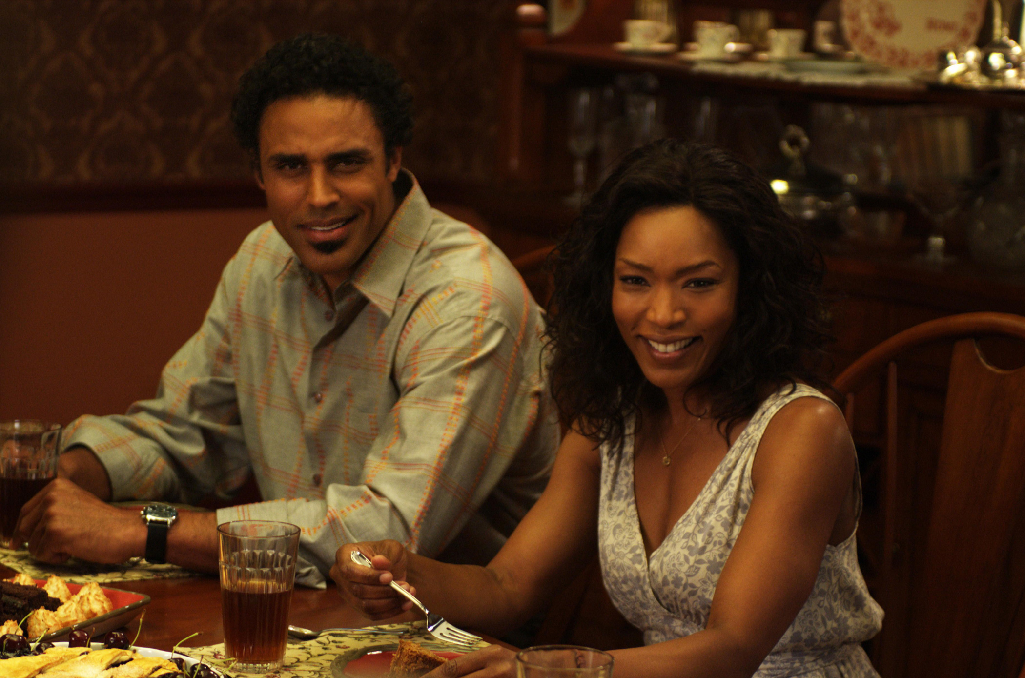 "Rick Fox (""Harry,"" left) and Angela Bassett (""Brenda,"" right) star in Lionsgate Home Entertainment's TYLER PERRY'S MEET THE BROWNS."