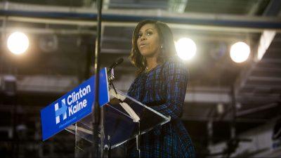 Michelle Obama Campaigns For Hillary Clinton In Philadelphia