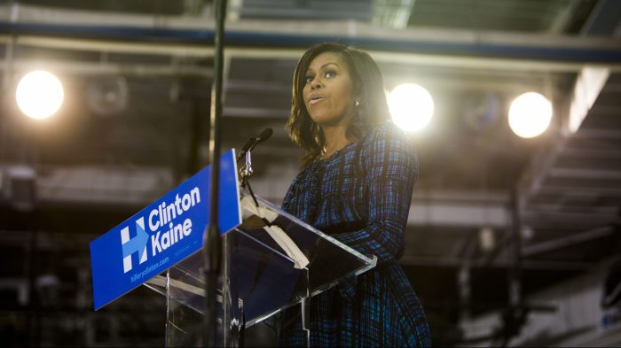 Michelle Obama Campaigns For Hillary Clinton In Philadelphia