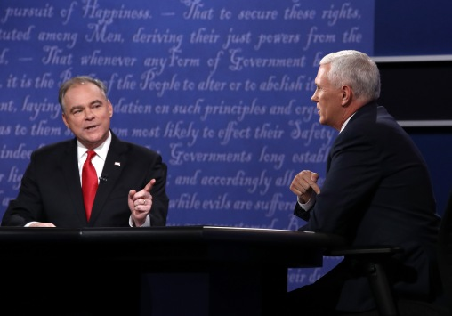 Vice Presidential Debate Between Gov. Mike Pence And Sen. Tim Kaine