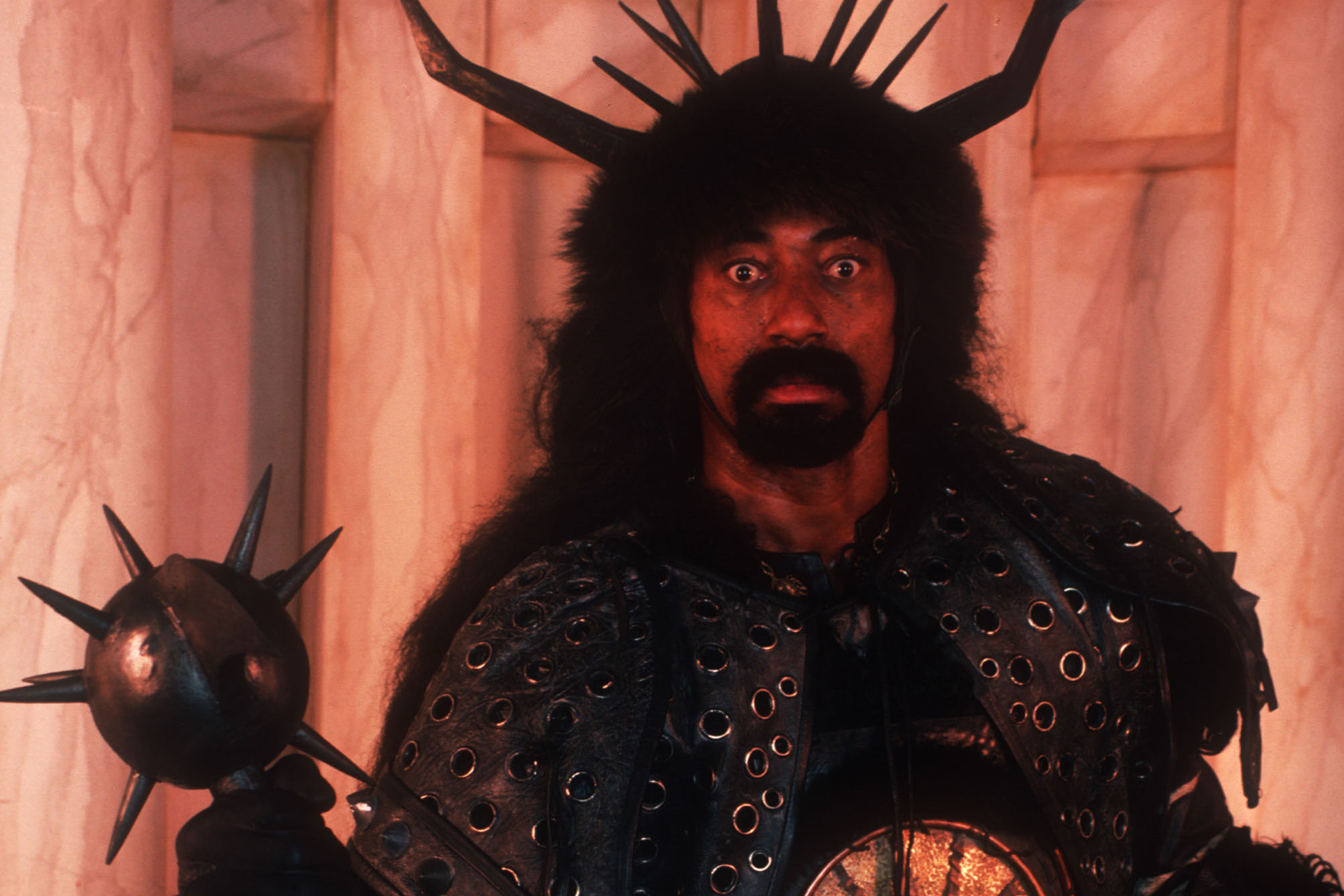 "Actor Wilt Chamberlain poses January, 1984 in Hollywood, CA. He plays Bombaata in ""Conan."