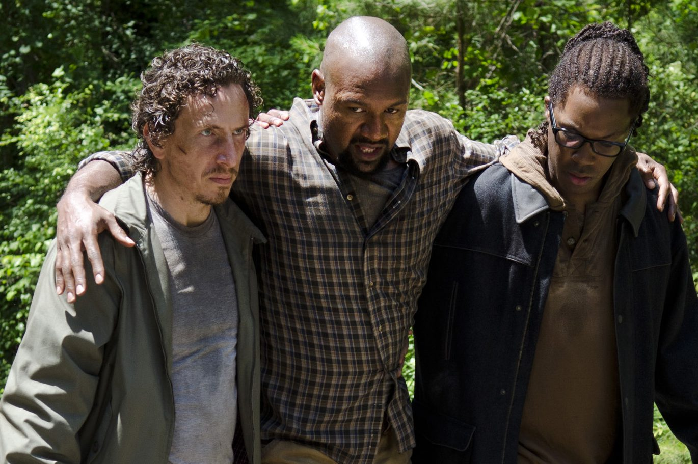 Michael Traynor as Nicholas, Kenric Green as Scott and Corey Hawkins as Heath