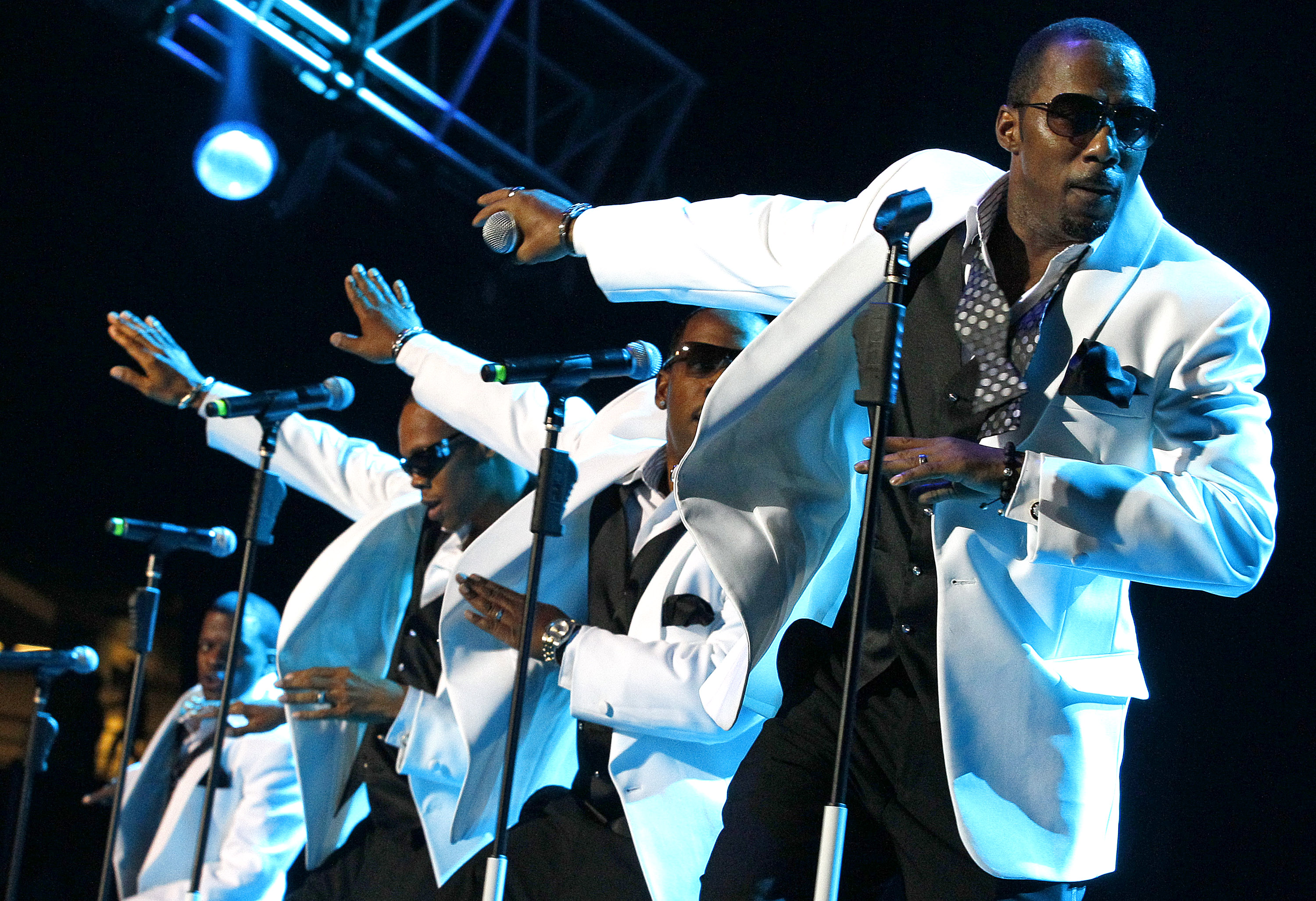 New Edition performs at the Essence Music Festival in New Orleans, Sunday, July 3, 2011.