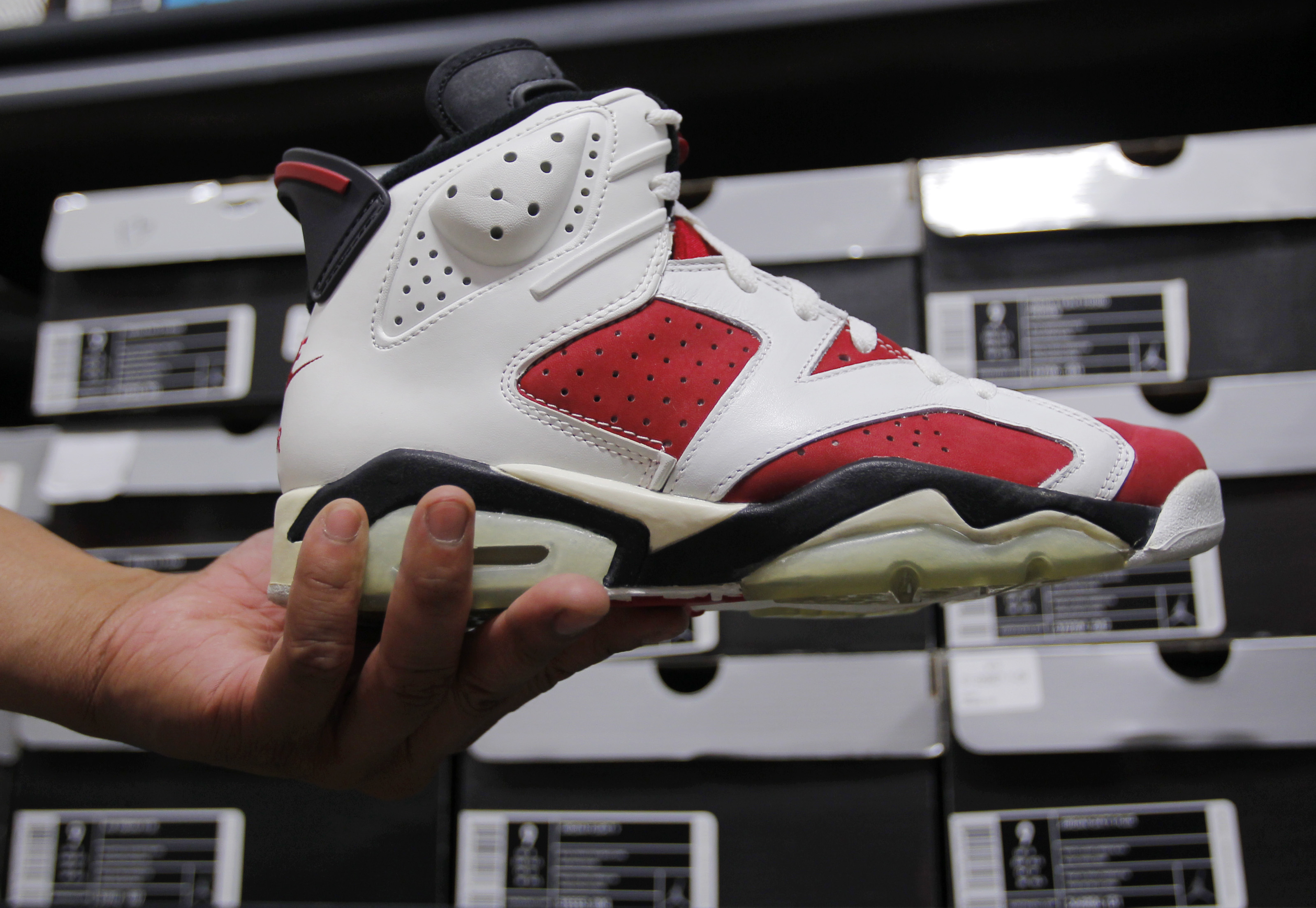 "A 1991 Air Jordan seen inside ""the Vault"" in Brighton, Mass., June 3, 2013."