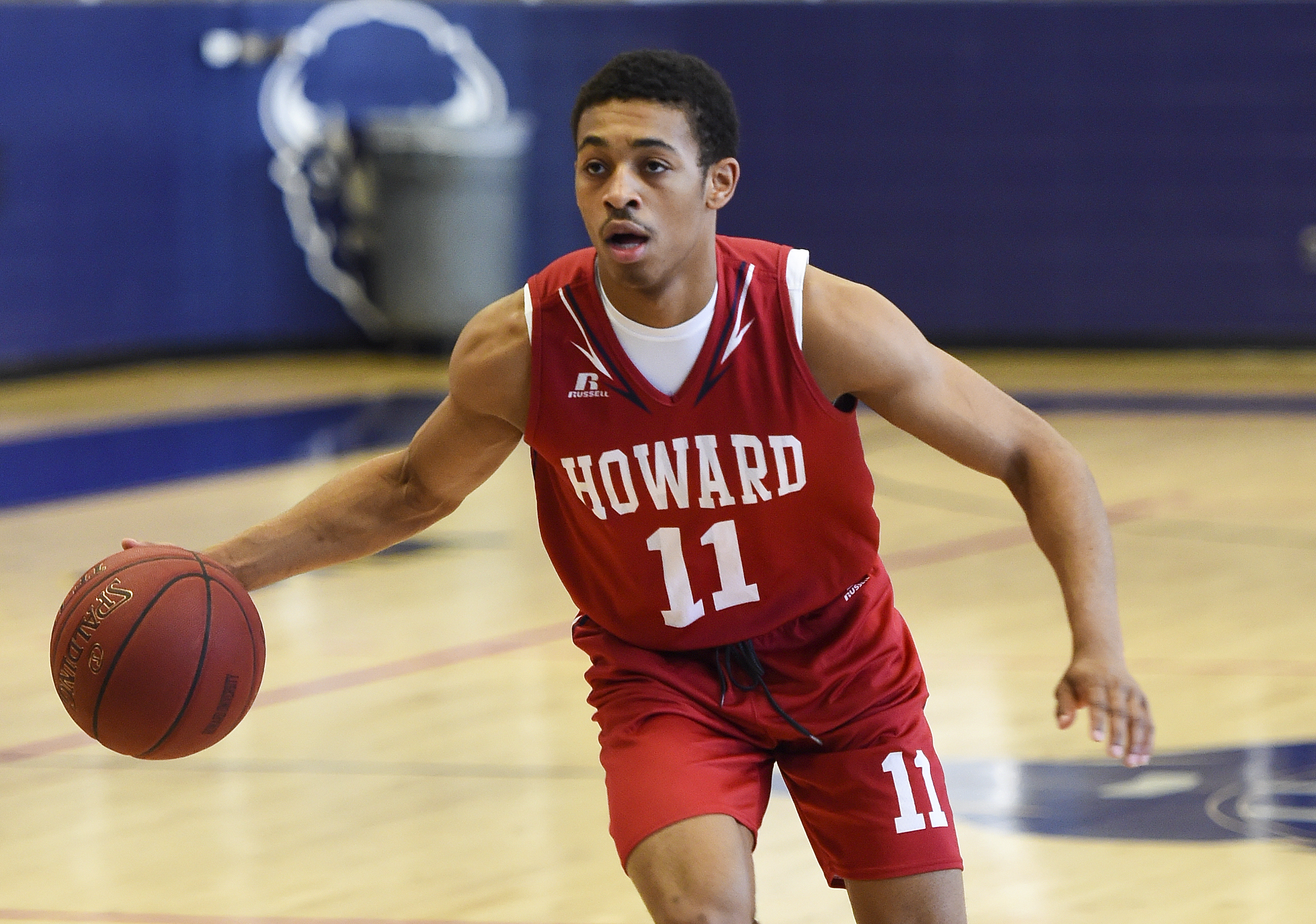 Howard guard James Daniel, (11), currently the leading scorer in Division I college basketball, works out at school on December 11, 2015 in Washington, DC.
