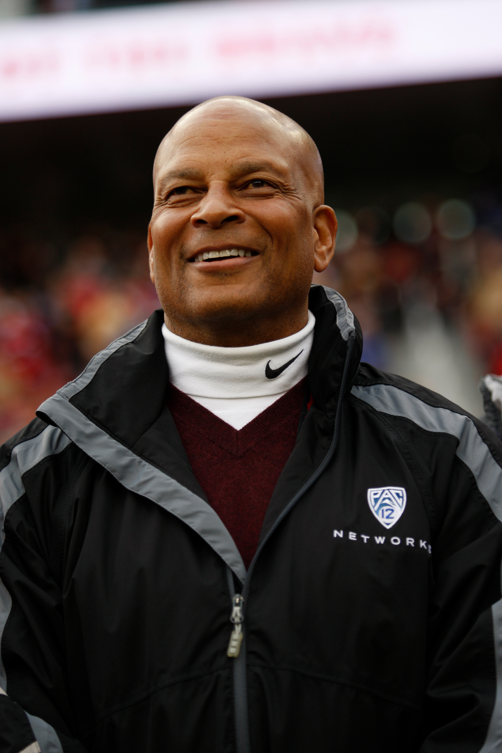 Ronnie Lott stands on the sideline prior to the game between the San Francisco 49ers and the Cincinnati Bengals at Levi Stadium on December 20, 2015 in Santa Clara, California.