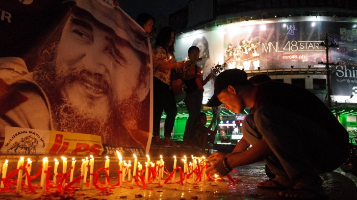 Philippines: Activists commemorate Fidel Castro