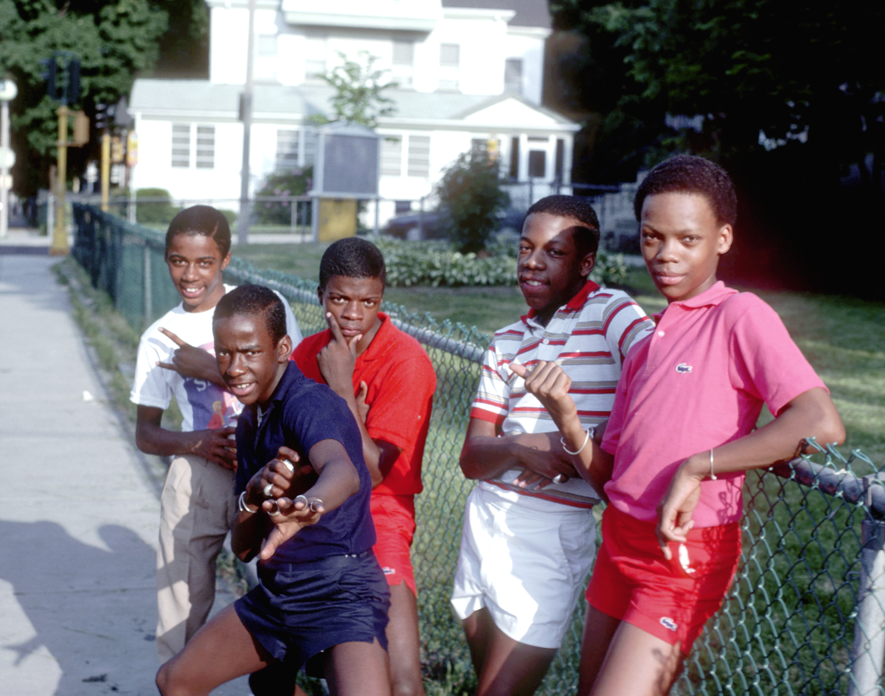 Photo of New Edition in the early 1970s.