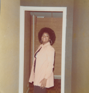 Laurette LeGendre as a freshman in 1972 at Howard University