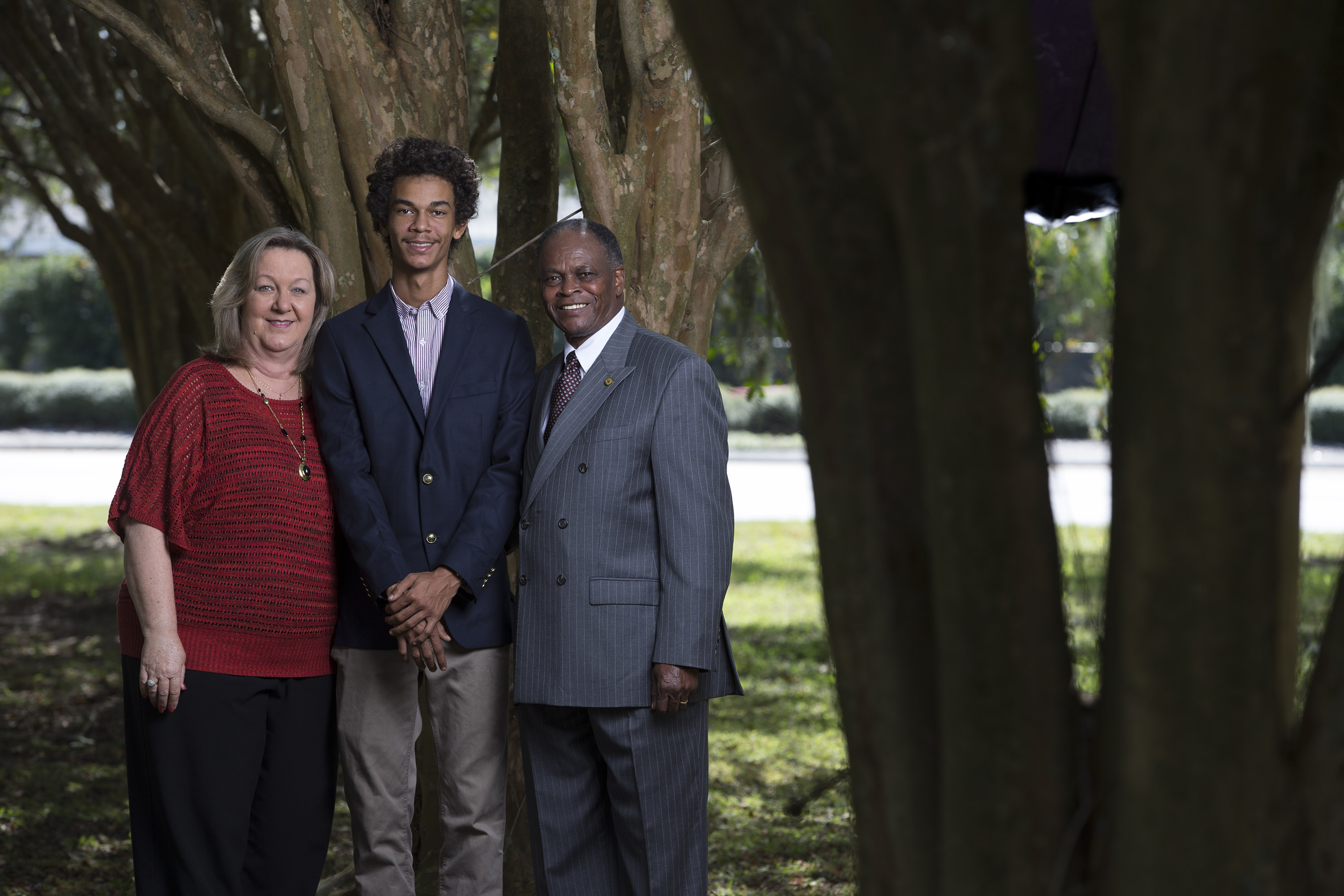 A family portrait of Libby Maxwell, Billy Maxwell and son Zach Maxwell in Ocoee, Fla. The Ocoee Massacre in 1920 resulted in African Americans being forced out of Ocoee until the 1970's.