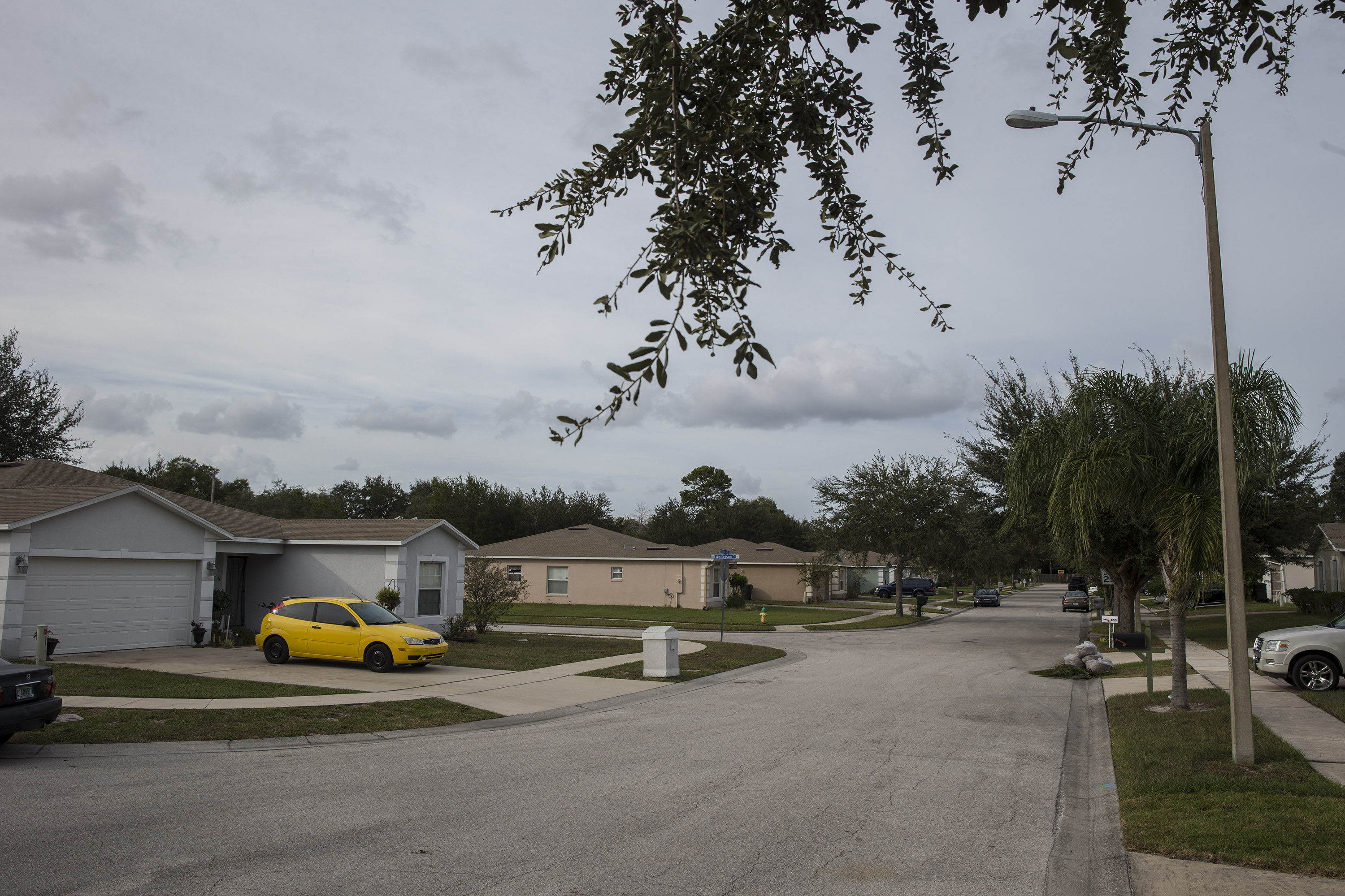 A residential neighborhood streets in Ocoee, Fl.