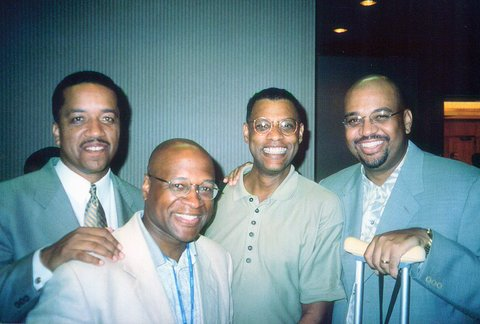Taken at 1998 NABJ Convention In DC after honoring pioneering sports writer Sam Lacy. From L to R: Bryan Burwell, Roy Johnson, Ralph Wiley and Michael Wilbon.