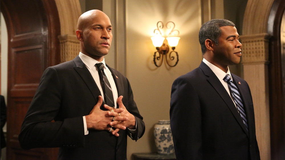 "Jordan Peele, right, and Keegan-Michael Key performed some of the best comic depictions of Obama, with Peele as the official face of the president, offering bland, soothing statements that were then interpreted by Key as Obama's ""anger translator."""
