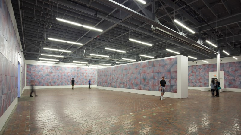 Pruitt's opus, shown here at the Museum of Contemporary Art in Detroit, will include 2,922 portraits by the time Obama's term is finished.