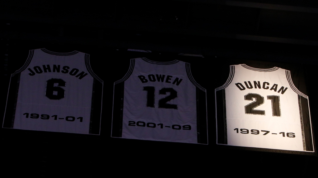 pretty nice c05e4 676f5 Tim Duncan's jersey retirement marks the end of an era