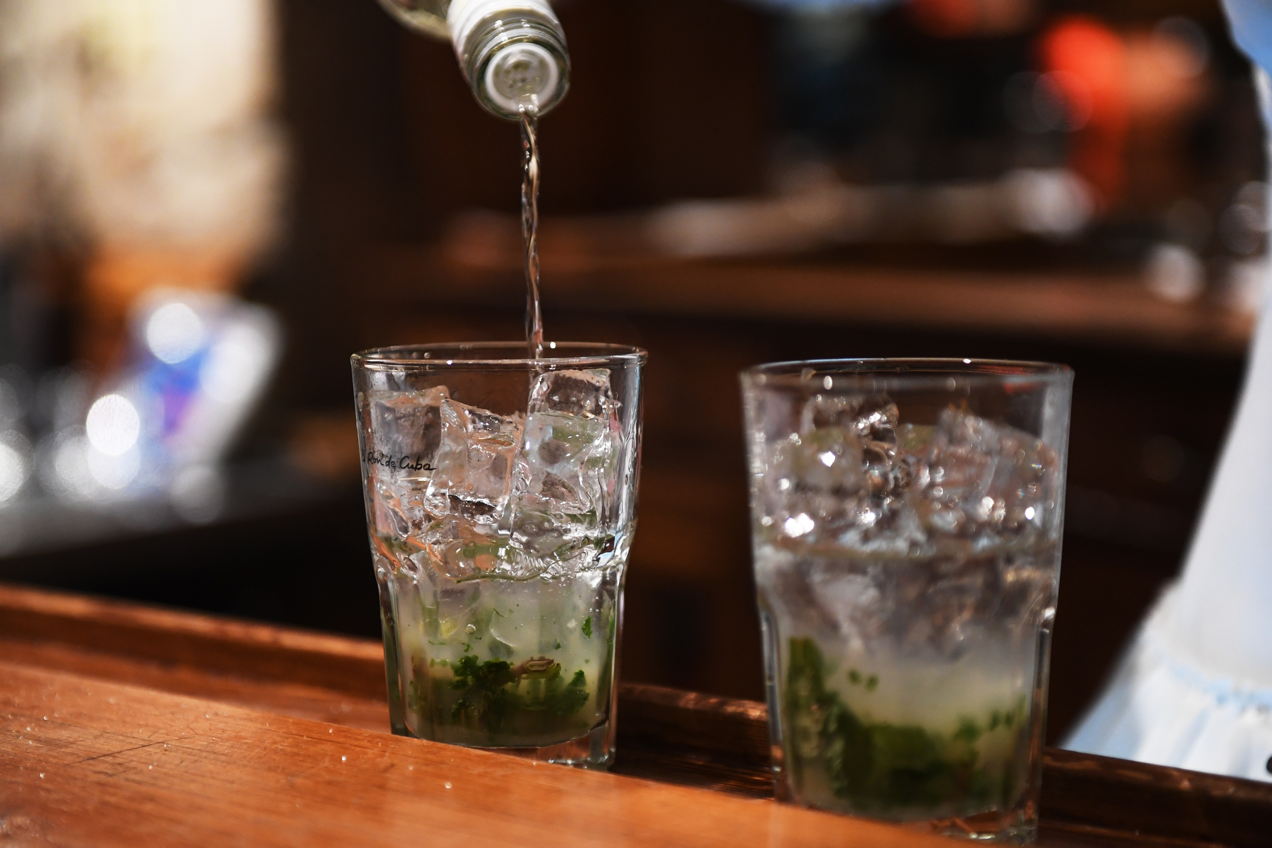 A mojito being made with Havana Club 3 Anos.