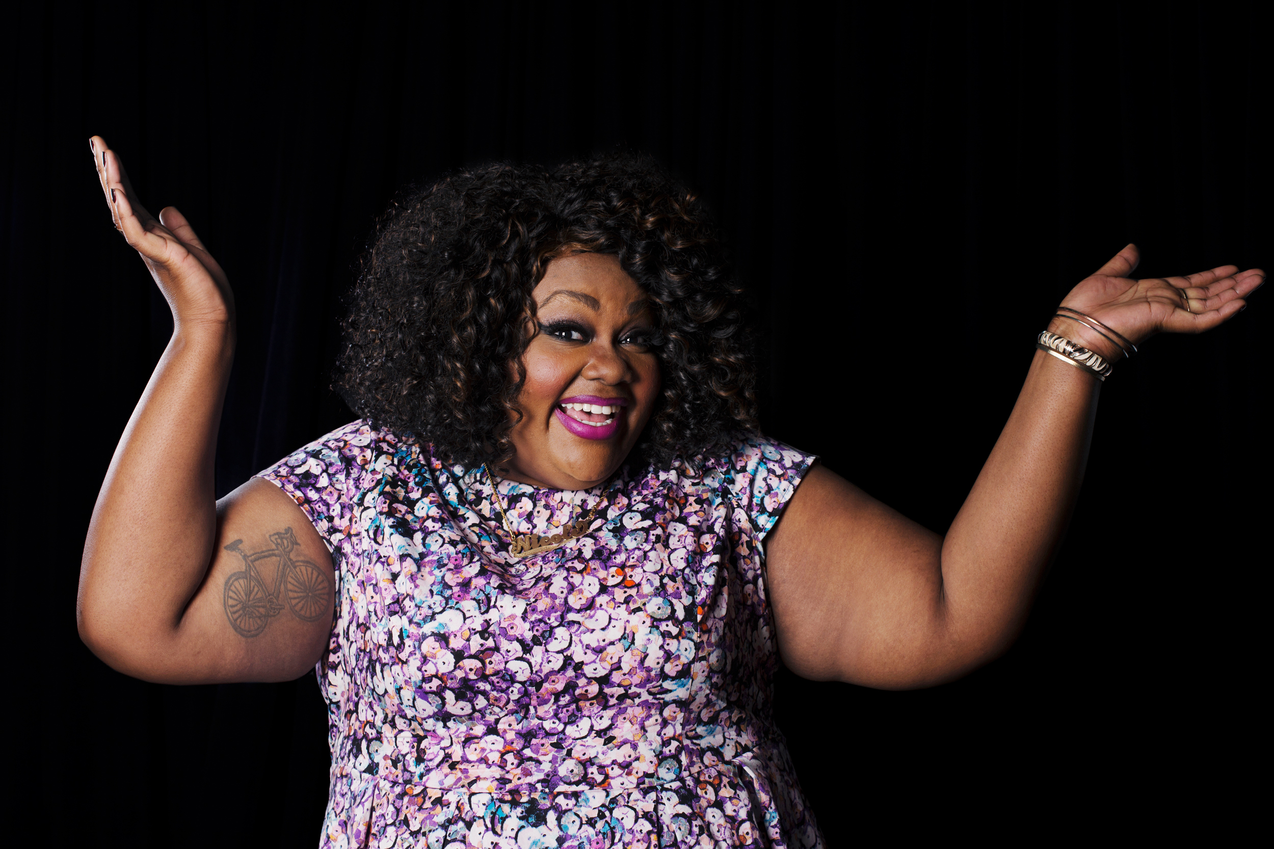 Comedian Nicole Byer poses for a portrait at Logo TV's NewNowNext Awards on December 2, 2014 at Kimpton Surfcomber Hotel in Miami Beach, Florida.