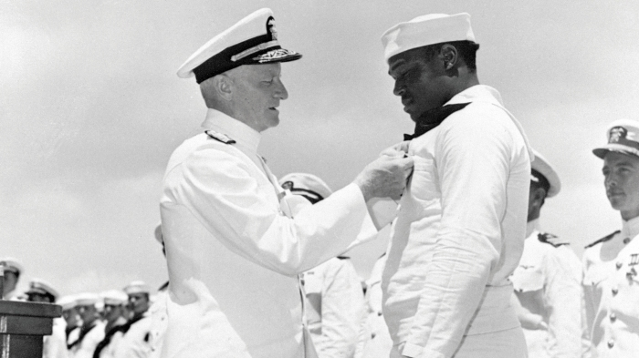Dorie Miller Receiving Navy Cross