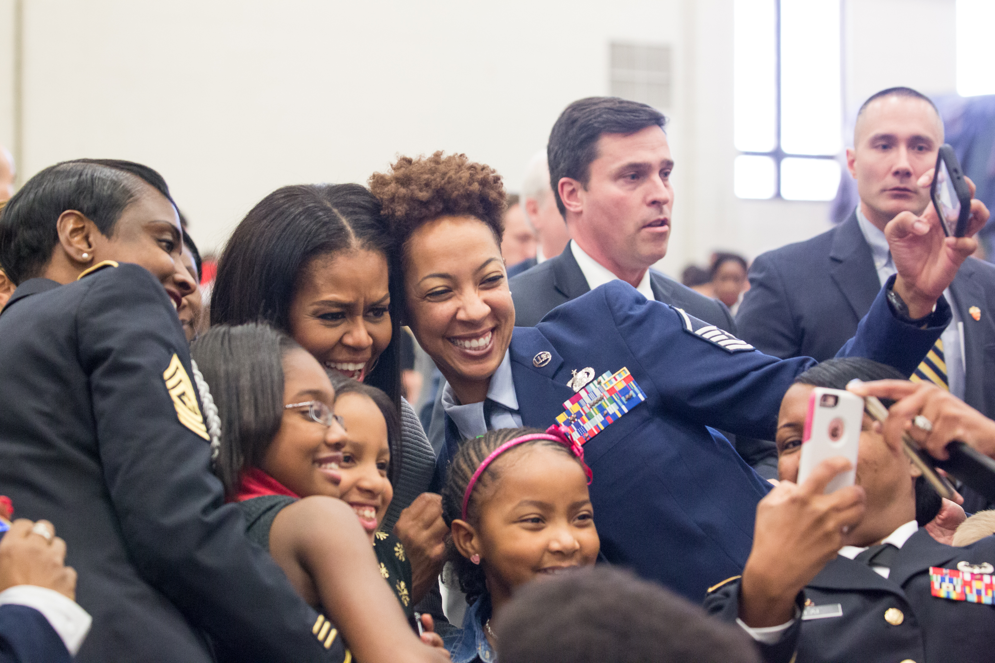 First Lady Michelle Obama joined military kids for Toys for Tots Program