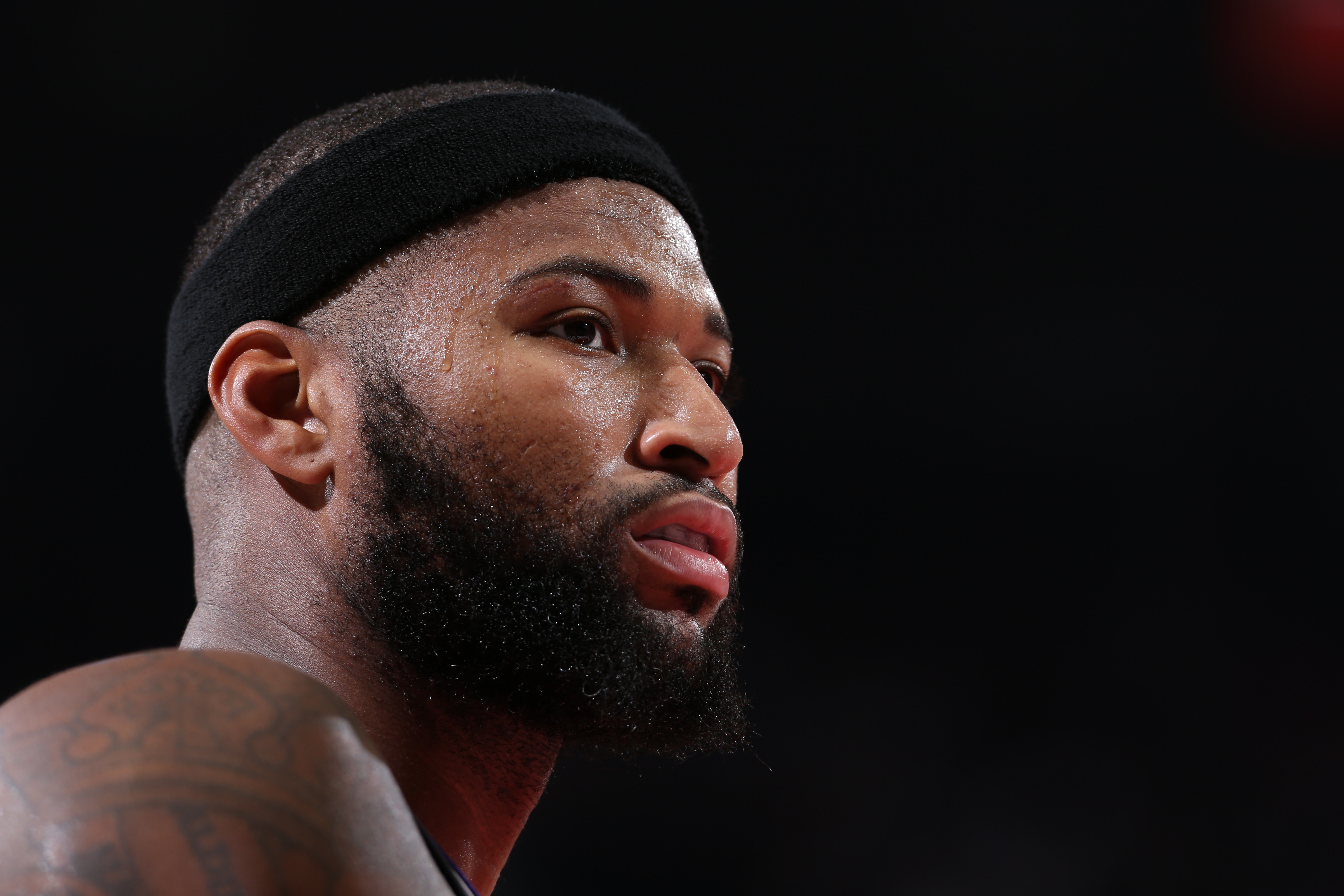 DeMarcus Cousins #15 of the Sacramento Kings is seen during the game against the Portland Trail Blazers on December 28, 2016 at the Moda Center in Portland, Oregon.
