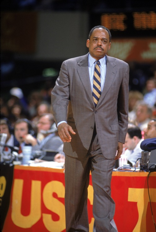 UNDATED: Coach Walt Hazzard of the UCLA Bruins walks on courtside during a season game. (Photo by: Bernstein Associates/Getty Images)