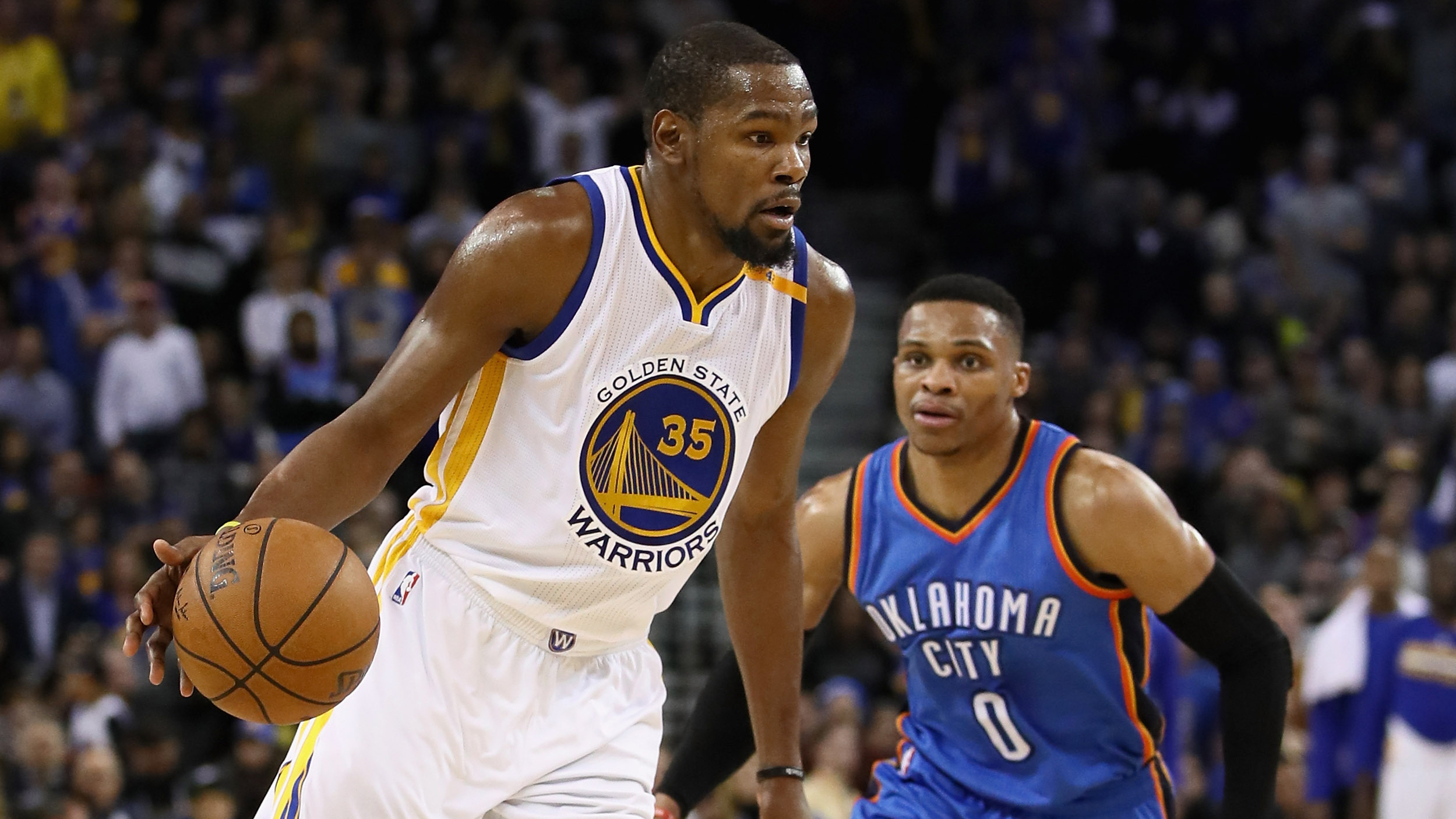 b89a77bffbe497 Kevin Durant and Russell Westbrook still haven t spoken — but they might be  teammates again soon