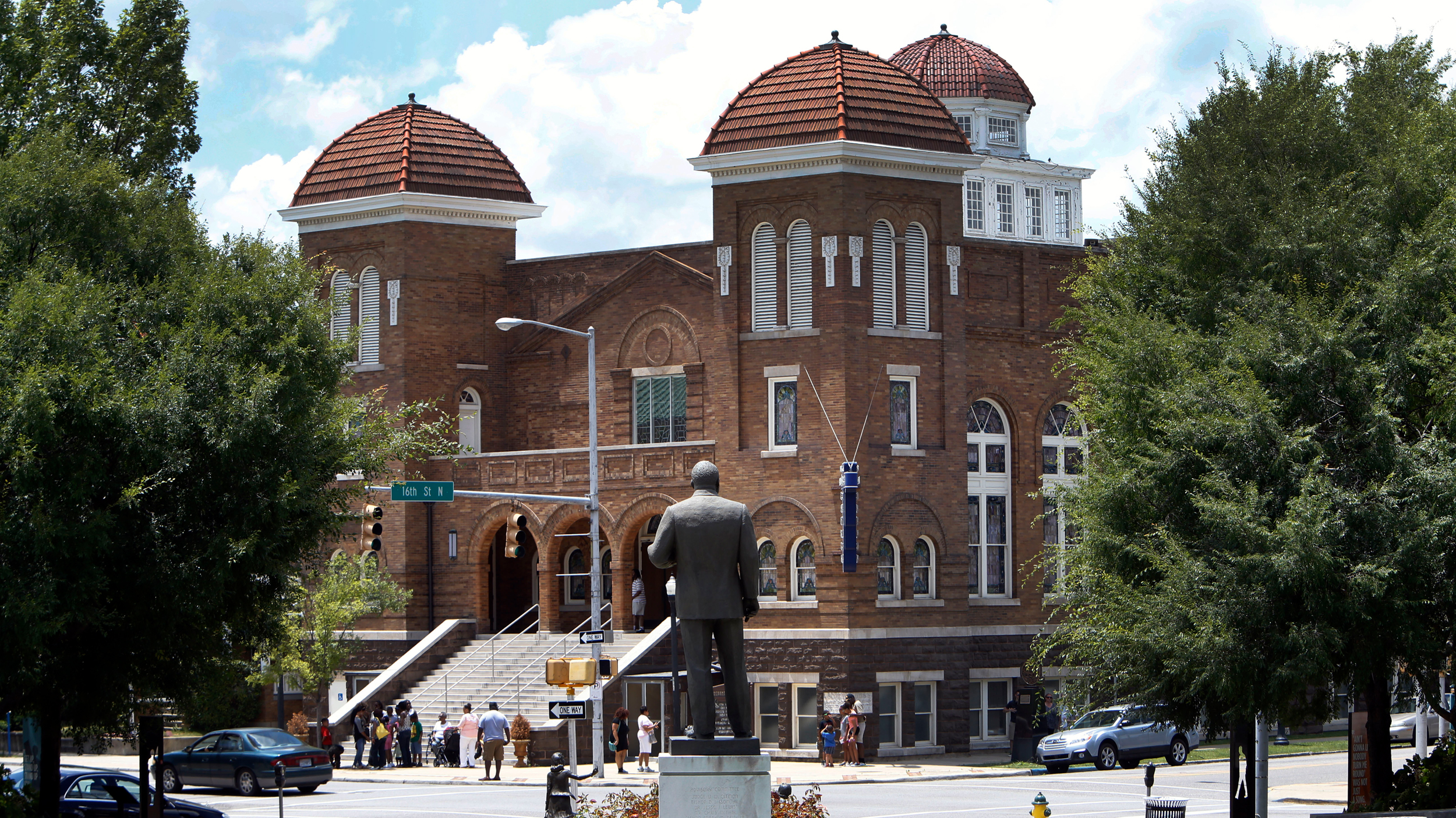 The Reverend Martin Luther King statue in Kelly Ingram Park acr