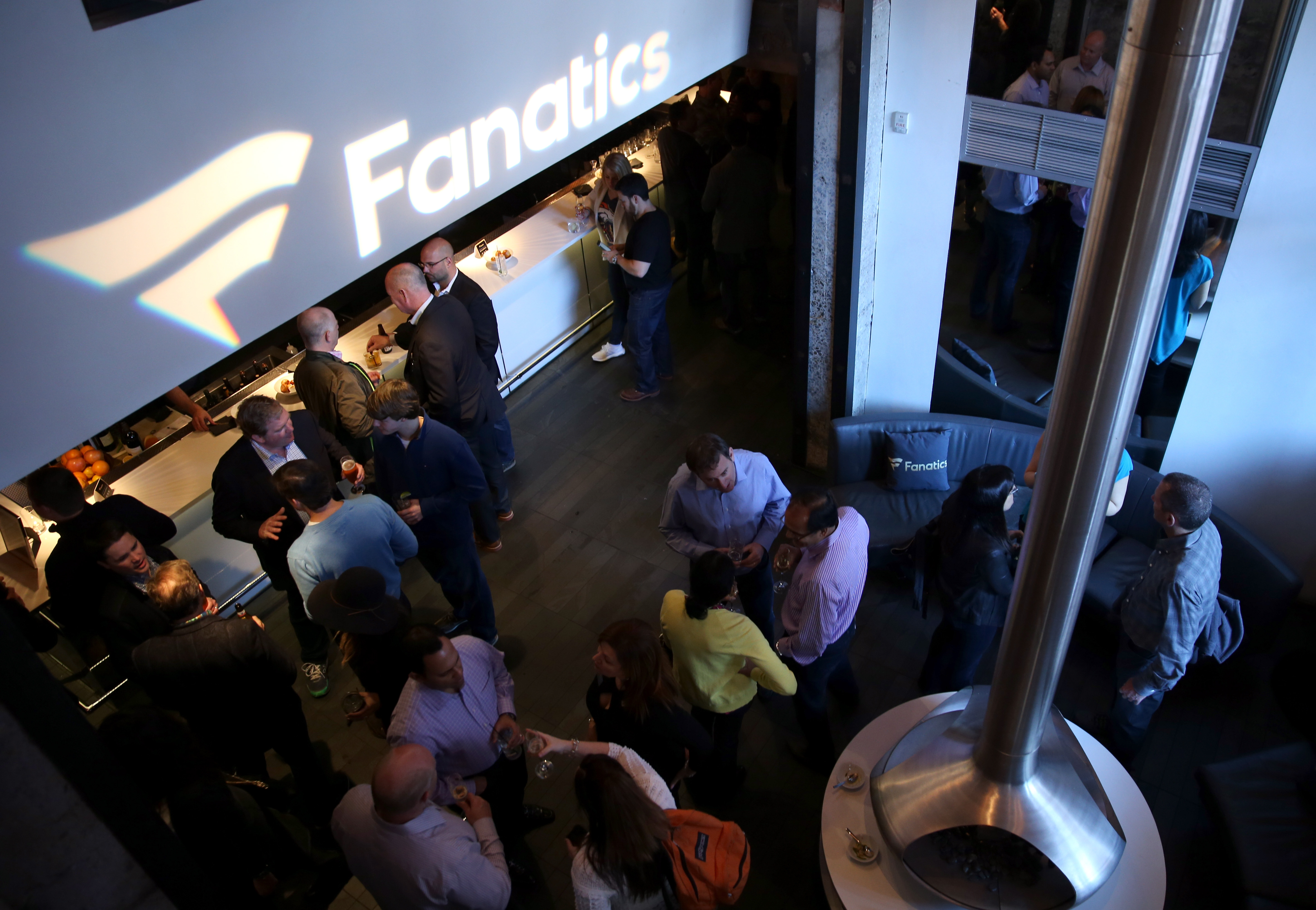 Guests attend the Fanatics Super Bowl Party on February 6, 2016 in San Francisco, California.