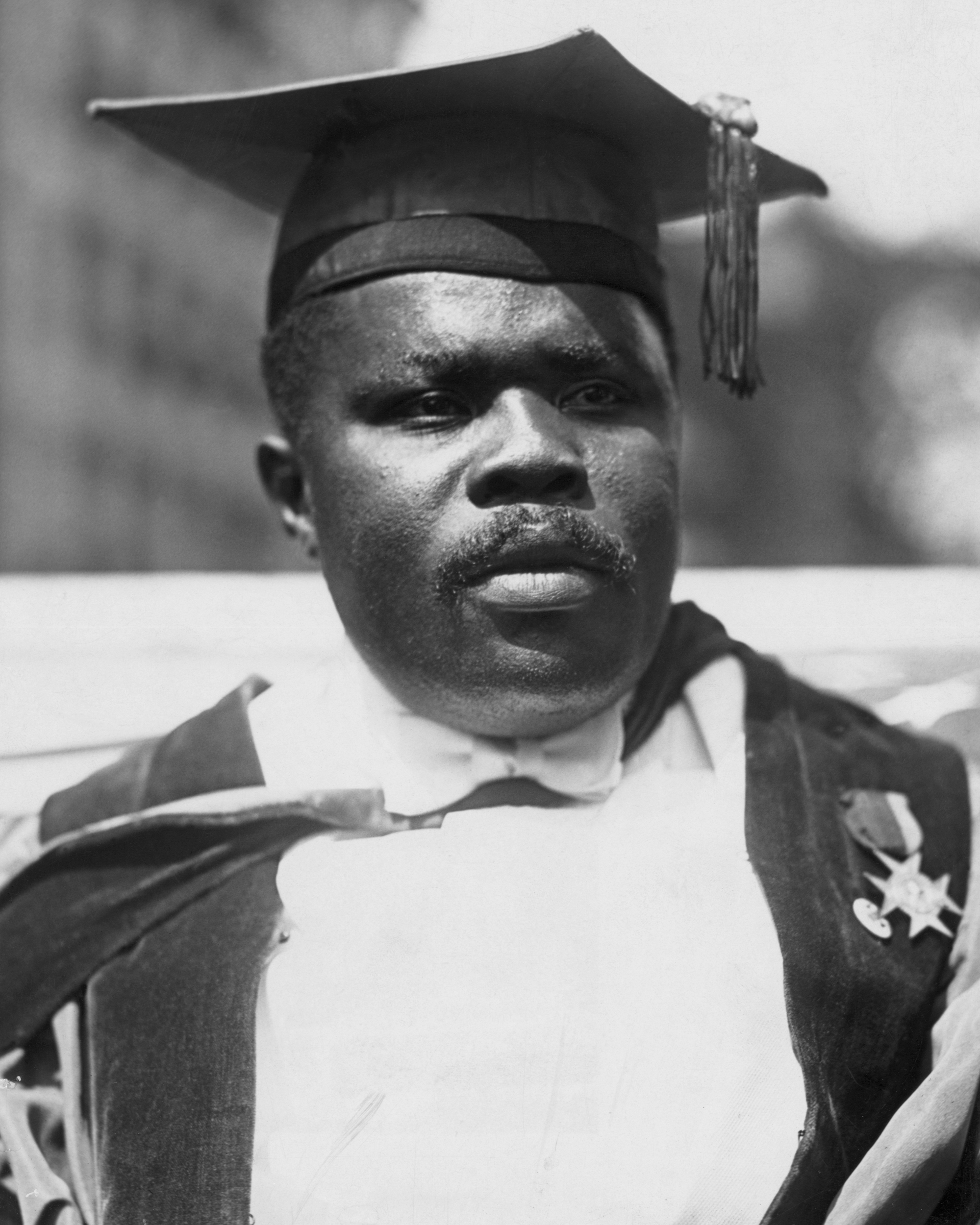 Civil rights leader Marcus Garvey, President of the Universal Negro Improvement Association.