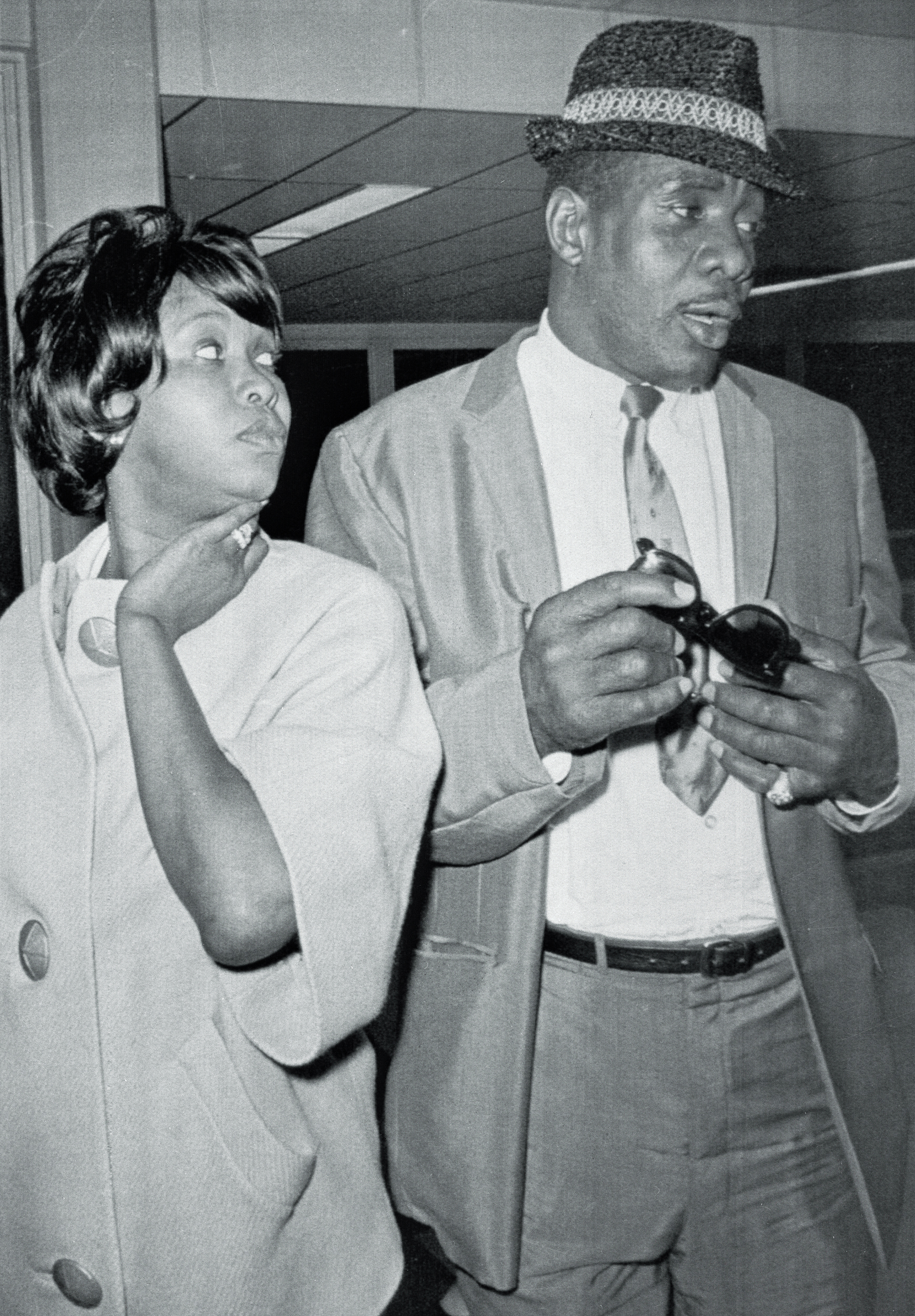 Sonny Liston arrives in Denver late with his wife, Geraldine.