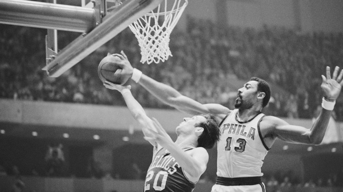 Wilt Chamberlain Blocking Shot