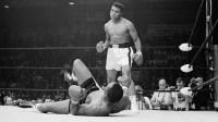 Boxers Muhammad Ali and Sonny Liston Fighting