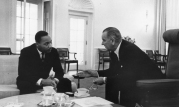 MLK Meets With LBJ