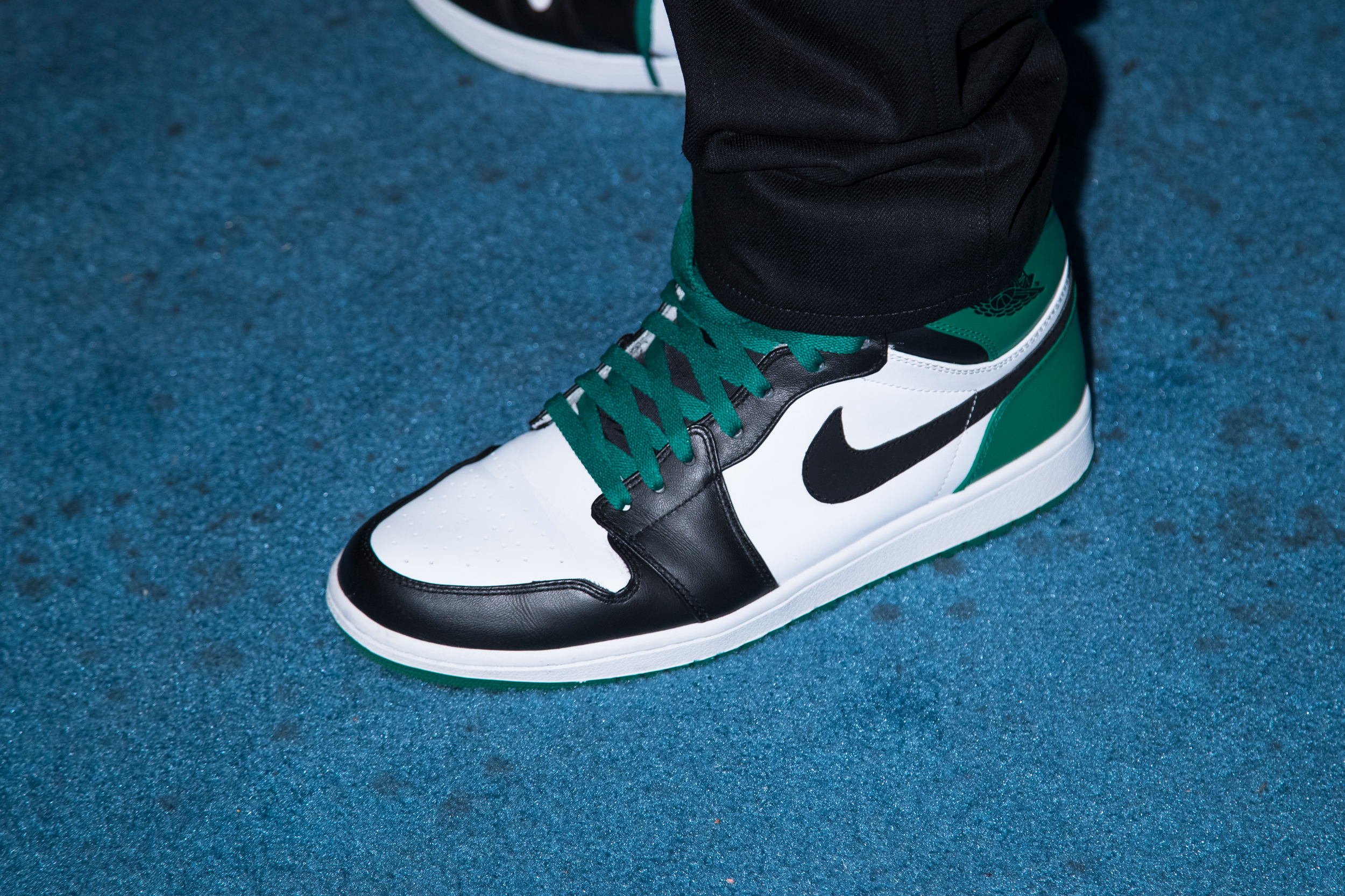9de17fb77f5 Nike shoes worn by comedian Dave Chappelle at the NBA All-Star Game in New  Orleans.