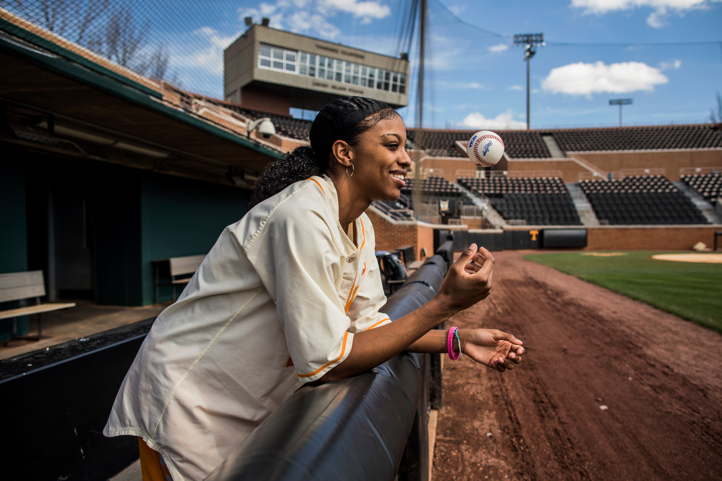 Diamond DeShields is one of the best women's college basketball players in the country, but she comes from a lineage of baseball players. Her father and now brother both played in the MLB.