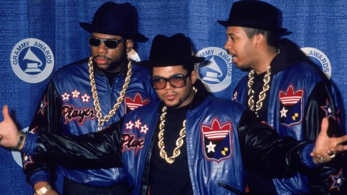 Portrait Of Run-DMC At Grammy Awards