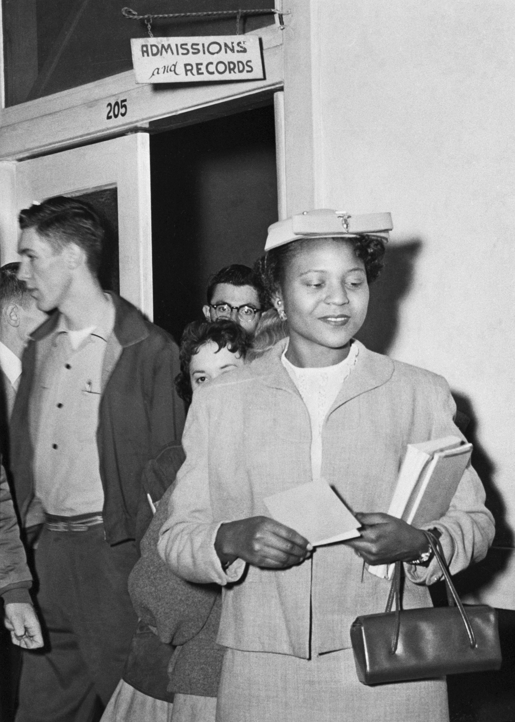 Autherine Lucy becomes the first African American student to enroll in the University of Alabama at Tuscaloosa in 136 years.