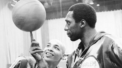 Harlem Globetrotters' Meadowlark Lemon Balancing Ball