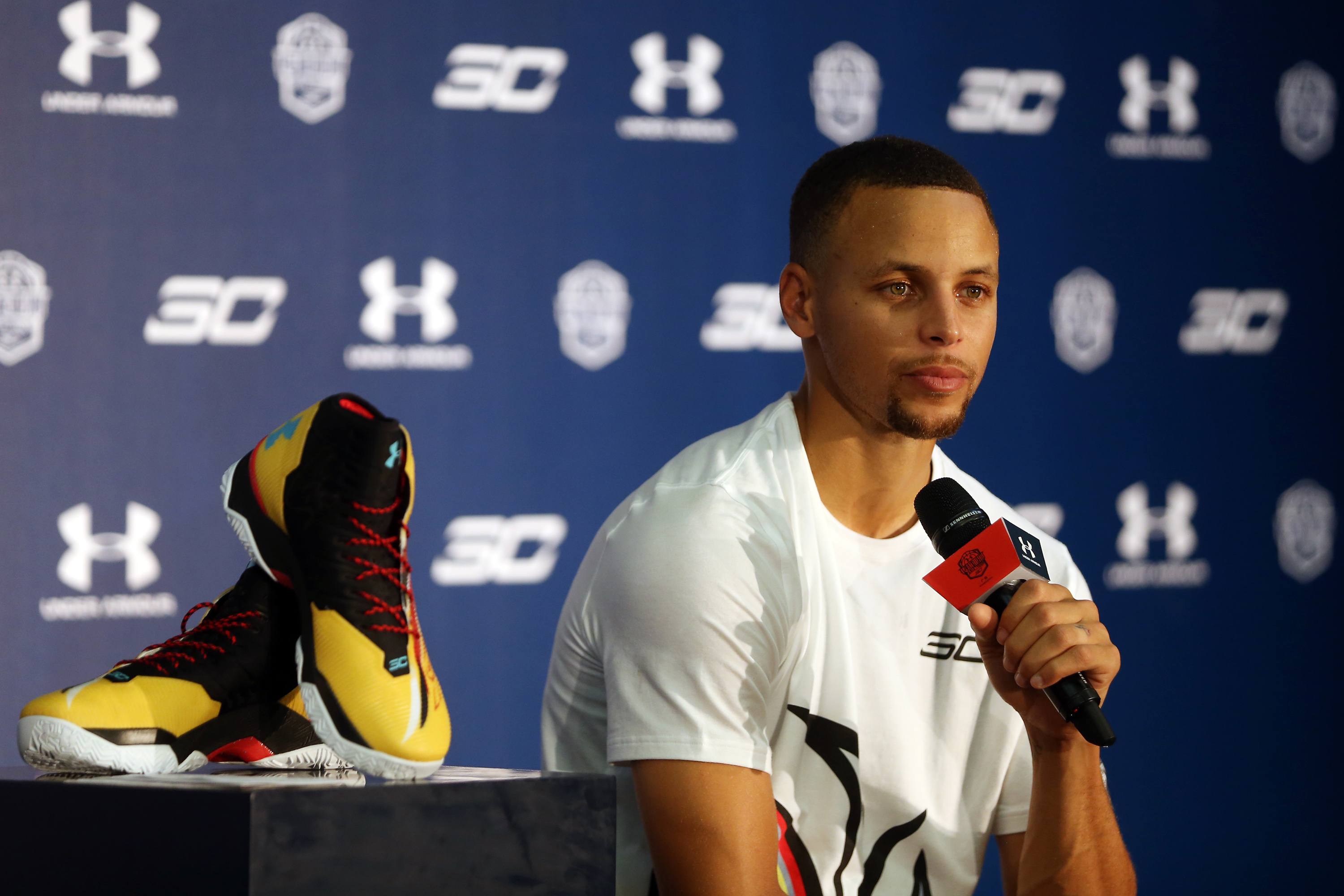 NBA Player Stephen Curry Visits Guangzhou