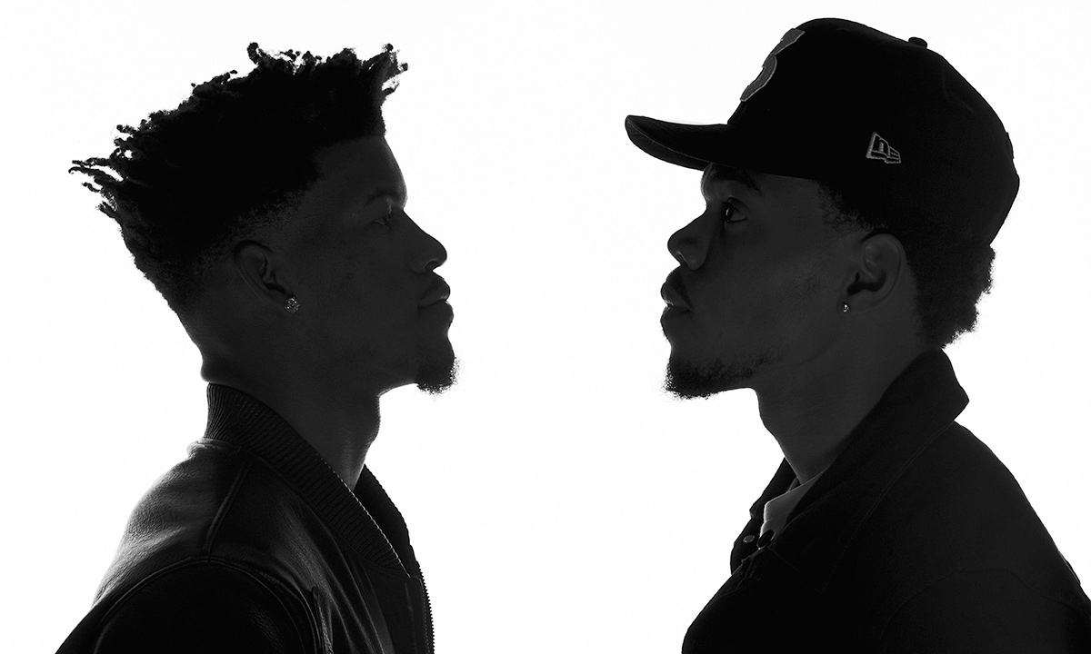 Jimmy Butler (left) and Chance the Rapper